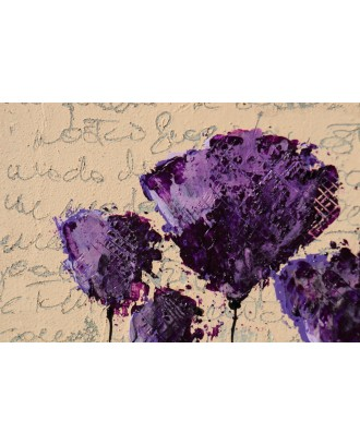 purple and poppies